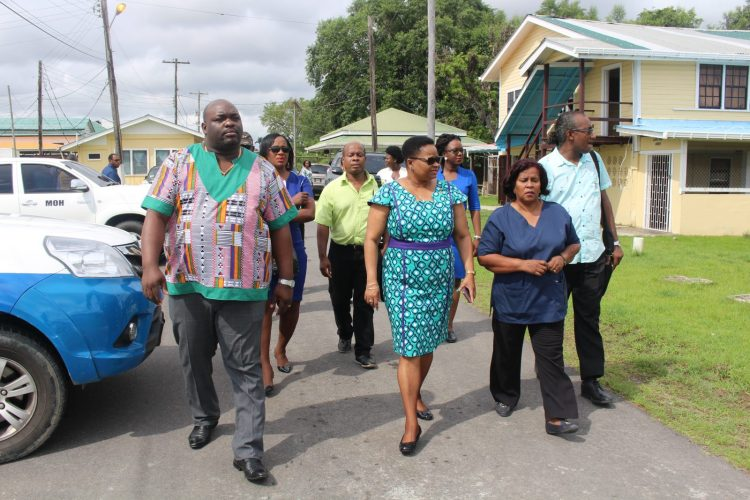 Minister Lawrence and team along with Regional Health Officials as they tour the New Amsterdam Regional Hospital and the National Psychiatric Hospital