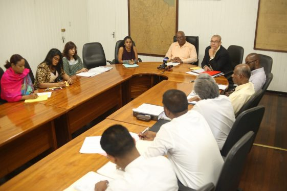 Minister of Finance's Budget team meeting with executives of the Institute of Chartered Accountants of Guyana as part of Budget 2019 consultants