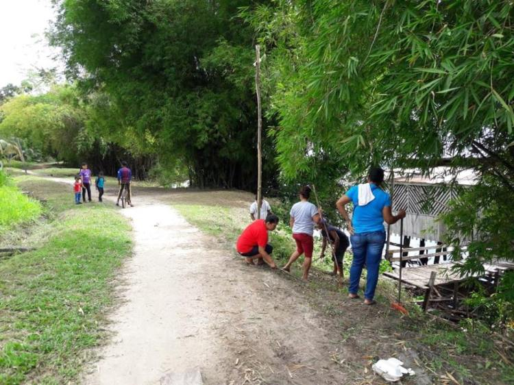 Residents engage in clean up exercise