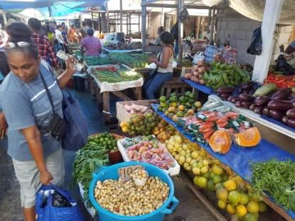 Scenes from Sunday market at Parika.