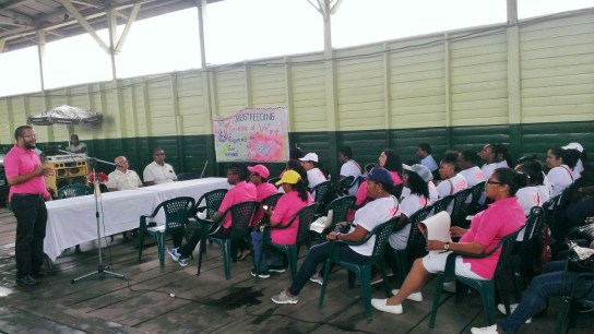 Section of the gathering listening to Regional Health Officer, Ravindra Dudhnauth
