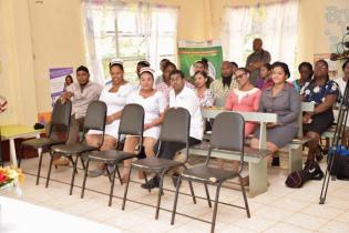 Staff of the Mabaruma Regional Hospital who met with Minister Cummings