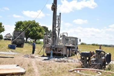 The Brazilian Army preparing to drill the fourth well in Awaruwaunau Village