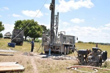 The Brazilian Army preparing to drill the fourth well in Awaruwaunau Village