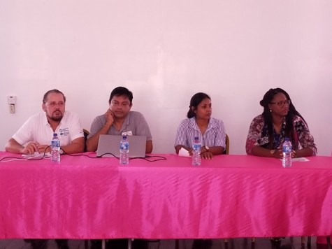 Head table (from left) Dr. Diony Fuentes, Dr. Narine Singh, Dr. Umadia Rattan and Ms. Ulex Fung.