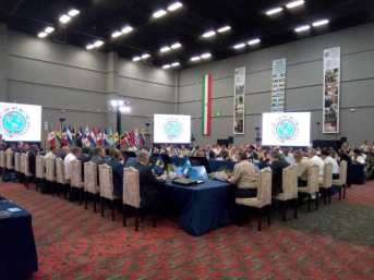 The Thirteenth Conference of Defense Ministers of the Americas in session.