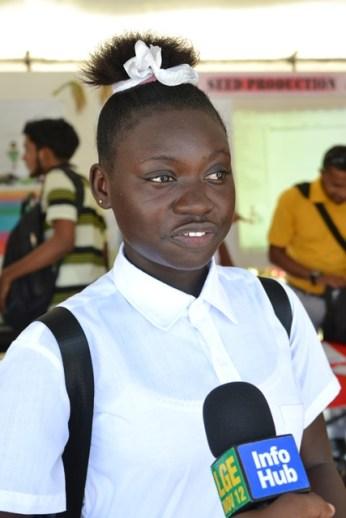 Carmalita Ward, a fifth form student of the Belladrum Secondary School.