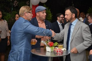 The Canadian High Commissioner hosted a networking reception for the local private sector and the visiting trade mission from the Canadian province of Newfoundland and Labrador at her residence on Monday evening.
