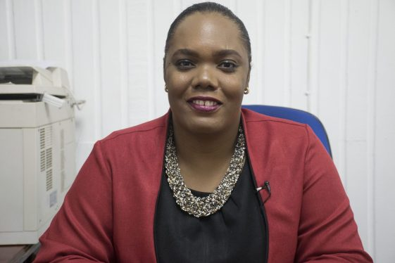 Manager of GPL's Customer Services Centre, Silviena Charles.