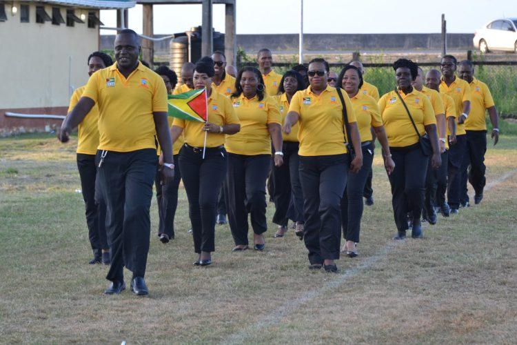 The home team, Guyana