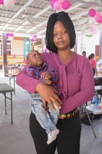 Puttana Dos Santos, with her baby boy who was born with microcephaly