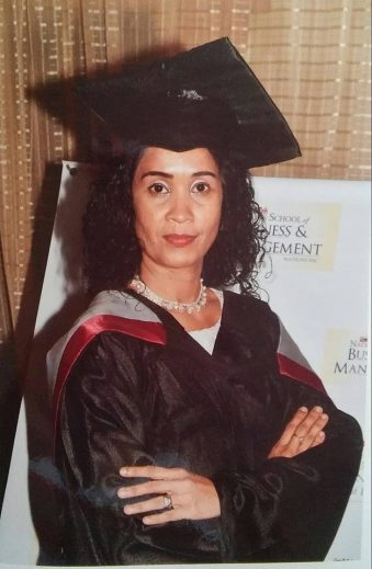 Headmistress of Corentyne Comprehensive High School, Nirmala Somwaru-Hussain