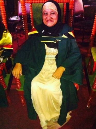 Zita Adrian-Ameerally at her graduation from the University of Guyana Berbice Campus.