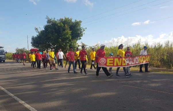 Participants during the walk.