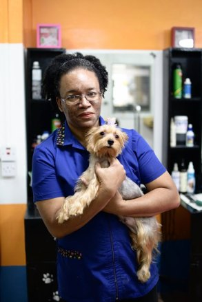 Owner and Head Groomer of Pawsome Pets, Luana Pierre.