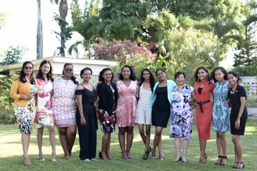 Winners and candidates who participated to be the President, Prime Minister and Canadian High Commissioner for the day were treated to tea at the Canadian High Commissioner's residence in observance of International Day of the Girl Child.
