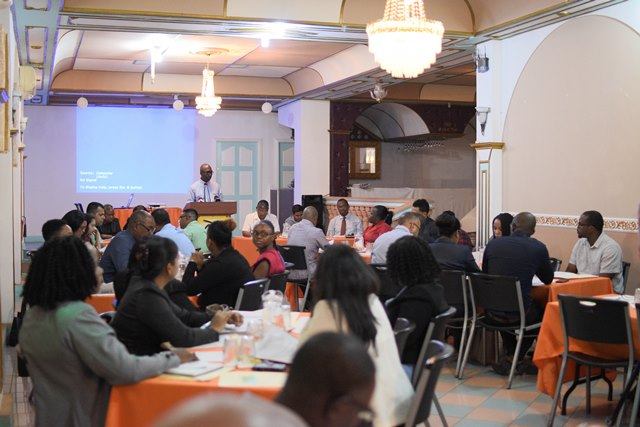Participants at The Public Procurement Commission stakeholders' consultations on the proposed Draft Debarment and Suspension Regulations at the Regency Suits, Hadfield Street, Georgetown.