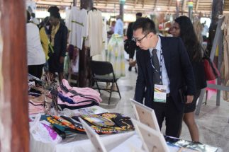 Scenes of the Commonwealth Association for Public Administration and Management (CAPAM) art and craft exhibition