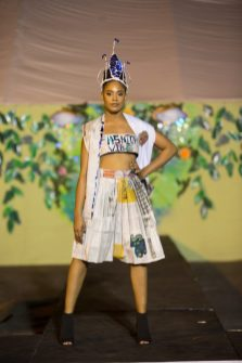 Day one of the Green Guyana Expo saw a fashion show demonstrating recycling of materials