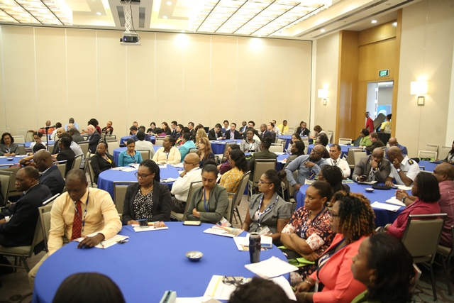 Participants engaged in a session on Tuesday.