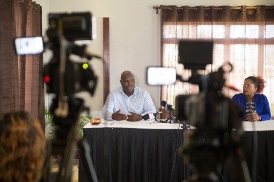 CEO of GTT, Justin Nedd during a recent press conference hosted by GTT.