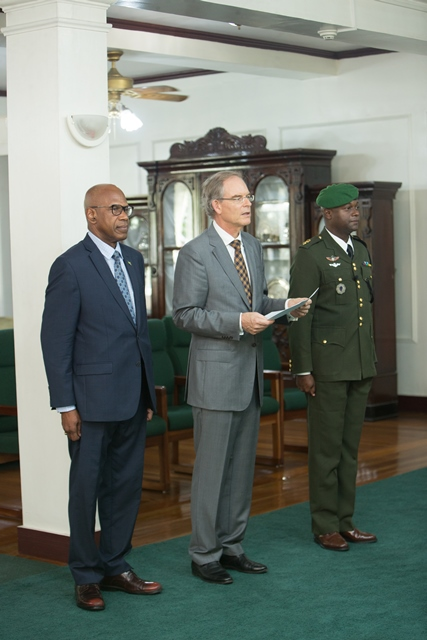 The Netherlands Ambassador to Guyana, Jacob Rijkert Frederiks.