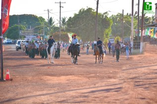 A horseback parade during the launch of Lethem Town Week.