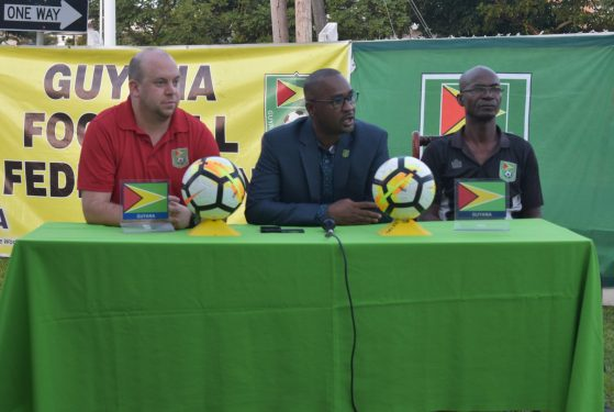 President Wayne Forde Makes Remarks At Presentation Of Concacaf D License And FIFA GoalKeeping Programme Certificates. Seated