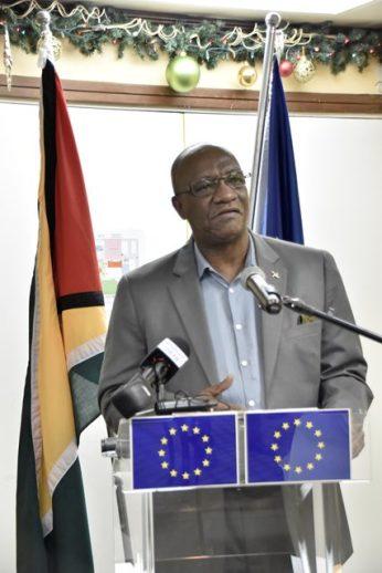 Minister of State, Mr. Joseph Harmon.