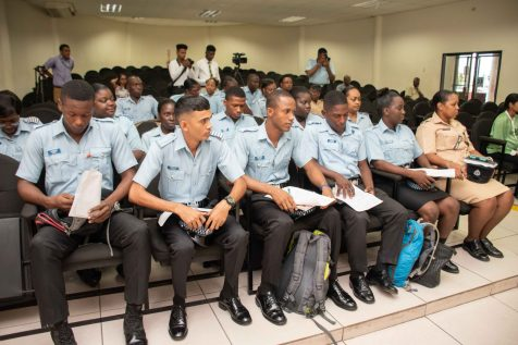 Police ranks at the Noise Management Training Course, at the Officer Training Center, Eve Leary