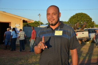 Lethem's incumbent Mayor, Kerry Jarvis, shortly after he voted.