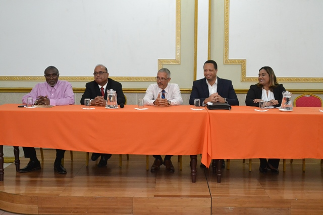 The panel included representatives from the Private Sector Commission, the Guyana Oil and Gas Energy Chamber (GOGEC), Ministry of Business, the Guyana Office for Investment (GO-Invest) and ExxonMobil.
