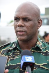 Director General (ag) of the Civil Defence Commission, Lieutenant Colonel, Kester Craig.