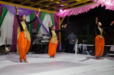 A dance being performed by members of the Indian Cultural Centre.