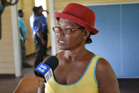 Marlene Licorish, A retrenched Enmore Estate worker.