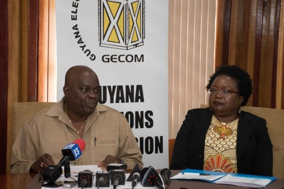 Chief Elections Officer (CEO), Keith Lowenfield and Deputy Chief Elections Officer, Roxanne Myers.