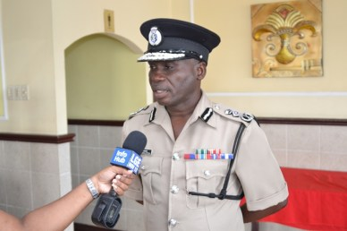 Commissioner of Police, Leslie James, DSM, DSS.