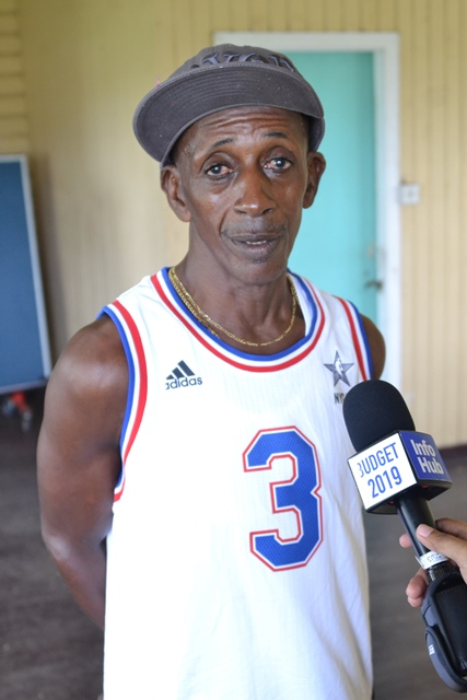 A retrenched Enmore Estate worker, Sheldon Younge.