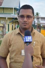Candidate Mohammed Faiaz Mursalain, Constituency 4, Skeldon.