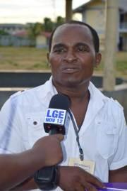 Constituency Three candidate, Little Africa, Abel Aubrey Hunte.