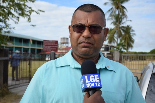 APNU polling agent, Lakeram Singh.