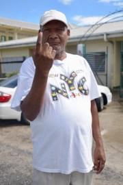 Winston La Rose after casting his ballot.