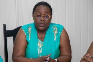Minister within the Ministry of Natural Resources, Simona Broomes who facilitated the meeting between the two parties.