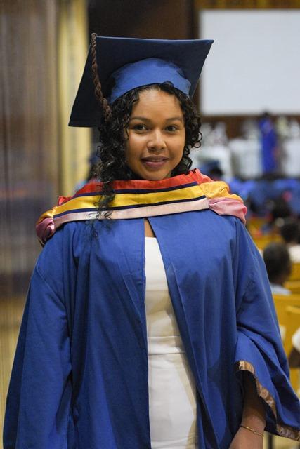 Graduate of the Registered Nursing Programme (Batch 125A, 100% passes), Melissa Emanuel.