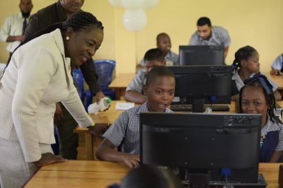 Scenes from the official commissioning of IT laboratories at Patentia and Craig Primary schools