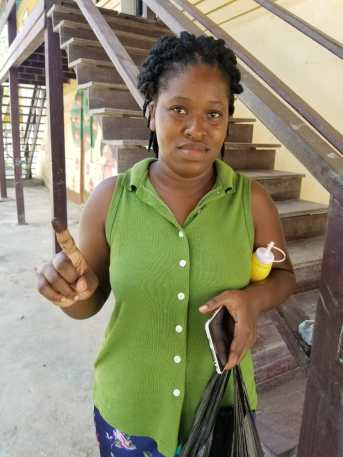 Tricialla Victor a resident of Sandvoort village is very grateful that an NDC was formed in her village so that residents will be able to exercise their constitutional rights and have a say in who manages their community