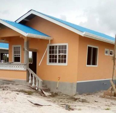 The housing units that will be completed in a matter of weeks in Amelia's Ward.