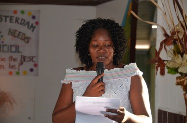 Head Teacher, Ms. Zoya Crandon.