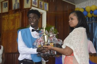 The presentation of awards and certificates to graduates.