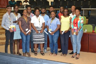 Participants who were awarded scholarships by Global Technology at the inaugural National Youth Conference.